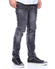 Buyers Picks - ZIPPER TRIM SKINNY BIKER JEANS