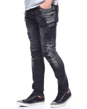 Buyers Picks - Faded Distressed Seamed Moto Jean