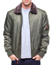 Top Gun - TOP GUN BOMBER JACKET W/FAUX FUR COLLAR