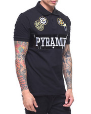 Short-Sleeve - Pyramid Gold Patch Polo Shirt