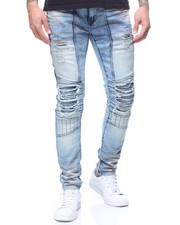 Kleep - PREMIUM MOTO JEAN IN LARK WASH-2180017