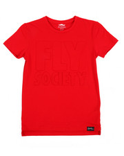 Fly Society - Embossed Logo Print Tee (8-20)-2179732