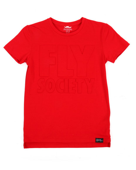 Fly Society - Embossed Logo Print Tee (8-20)