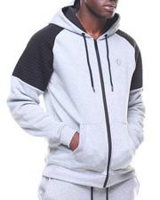 Hoodies - Allen Color Block Moto Sweatshirt-2180529