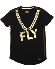 Boys - Gold Embossed Mirror Print Tee (8-20)-2179640