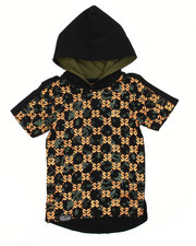 Hoodies - Foil Print Hooded Tee (8-20)