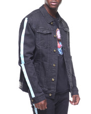 Pink Dolphin - STRIPE DENIM TRUCKER JACKET-2180727