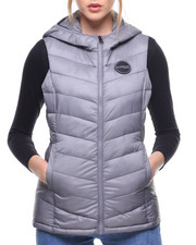 Bebe - NYC Quilted Hooded Vest-2178423