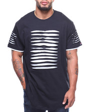 Phat Farm - S/S Rip & Repair Lined Scoop Bottom Tee (B&T)-2181449