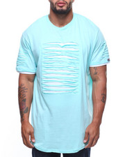 Phat Farm - S/S Rip & Repair Lined Scoop Bottom Tee (B&T)-2181457