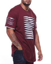 Phat Farm - S/S Rip & Repair Lined Scoop Bottom Tee (B&T)-2181453
