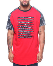 Phat Farm - S/S Rip & Repair Scoop Bottom Tee (B&T)-2181415