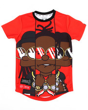 Boys - Yung & Rich Big Character Sublimation Tee (4-7)