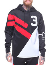 Men - Color Block Stripe Hoody