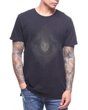Shirts - METALLIC EMBROIDERED STRING CREW TEE-2182774