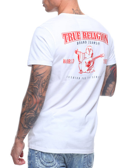 True Religion - DOUBLE PUFF CREW NECK SHIRT