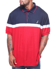 Nautica - S/S Colorblock Tech Pique Polo (B&T)