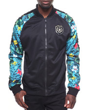SWITCH - FLORAL SLEEVE TRACK JACKET