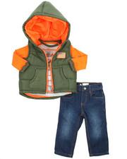 LRG - 3 Piece Quilted Vest Set (Infant)