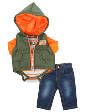 Sets - 3 Piece Quilted Vest Set (Infant)