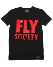 Fly Society - Embossed Mirror Metallic Logo Print Tee (8-20)-2179697
