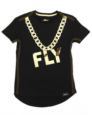 Flysociety - Gold Embossed Mirror Print Tee (4-7)