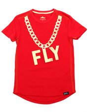 Fly Society - Gold Embossed Mirror Print Tee (8-20)-2179720