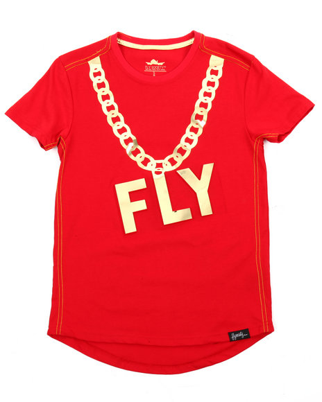 Fly Society - Gold Embossed Mirror Print Tee (8-20)