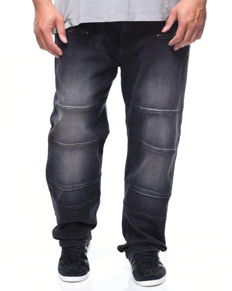 Akademiks - Bolt Sateen Piecing Jean (B&T)