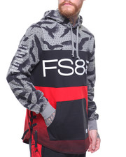 Flysociety - Camo Color Blocked Pullover Hoodie-2183855