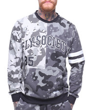 Sweatshirts & Sweaters - Split Mixed Camo Crewneck-2183281