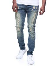 Jeans & Pants - VINTAGE WASH DISTRESSED SEAMED MOTO JEAN BY WAIMEA