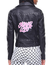 Outerwear - Signal Lost Studded Moto Jacket