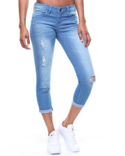 Jeans - Roll Cuff Jeans/Rips