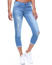 Fashion Lab - Roll Cuff Jeans/Rips