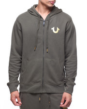 True Religion - METALLIC DOUBLE PUFF  HOODIE-2183333
