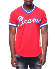 Mitchell & Ness - Atlanta Braves Authentic Mesh BP Jersey - Dale Murphy #3