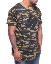 Phat Farm - S/S Camo Print Scoop Bottom Tee (B&T)-2184599