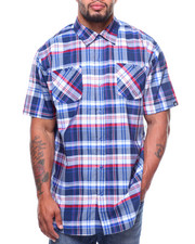Akademiks - S/S Kirk Yarn-Dyed Plaid Woven (B&T)