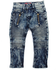 Arcade Styles - Tint Blue Moto Denim Jean (2T-4T)