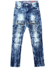 Arcade Styles - Stretch Moto Studded Jeans (8-20)