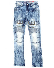 Bottoms - Stretch Moto Studded Jeans (8-20)