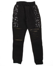 Bottoms - Rip & Repair Moto Fleece Jogger (8-20)