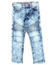 Jeans - Medium Blue Moto Jean (4-7)