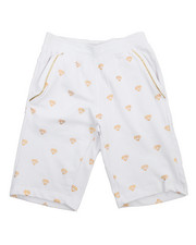 Shorts - All Over Foil Print Fleece Shorts (8-20)