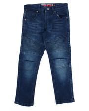 Jeans - Deep Blue Moto Denim Jean (4-7)