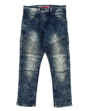 Bottoms - Tint Blue Moto Jean (4-7)