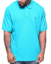 Chaps - S/S Solid Stretch Mesh Polo (B&T)-2186542