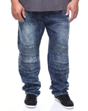 Big & Tall - Knee Zip Stretch Moto Jean (B&T)