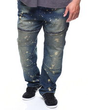 Big & Tall - Stretch Zipper Moto Denim Jean (B&T)